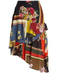 Preen Line - Blossom Floral-print Asymmetric Tiered Skirt - Lyst