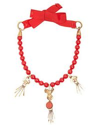 Valentino - Skull-pendant Beaded Necklace - Lyst