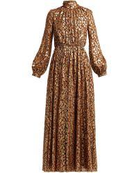 Giambattista Valli - Floral Fil-coupé Silk-blend Gown - Lyst