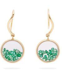 Aurelie Bidermann - Chivor Emerald & 18kt Gold Earrings - Lyst