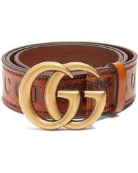 Gucci - Gg-logo 4cm Leather Belt - Lyst