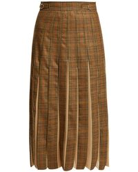 Gabriela Hearst - Ramiro Houndstooth Cashmere And Silk Skirt - Lyst