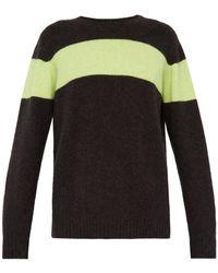 The Elder Statesman - Racing Intarsia Stripe Cashmere Sweater - Lyst