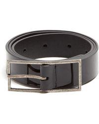 Saint Laurent | Skinny Leather Belt | Lyst