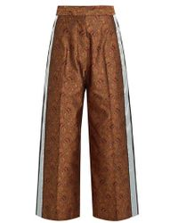 Hillier Bartley - Paisley-jacquard Silk Track Trousers - Lyst