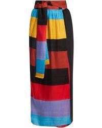 Mara Hoffman | Cora Tie-waist Striped Wrap Skirt | Lyst