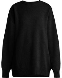 Raey - Displaced Sleeve Round Neck Wool Sweater - Lyst
