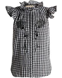 Bliss and Mischief - Rose Embroidered Gingham Cotton Top - Lyst