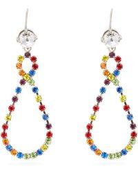 Miu Miu - Multicoloured Rainbow Crystal Drop Loop Earrings - Lyst