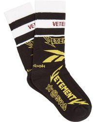 Vetements - X Reebok Edition Classic Cotton-blend Socks - Lyst