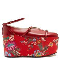 Gucci - Hannelore Detachable-platform Leather Court Shoes - Lyst