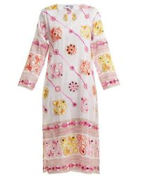 Juliet Dunn - Sequin-embellished Embroidered Cotton Dress - Lyst