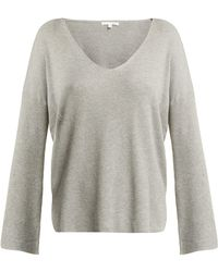 Skin - Veronica Ribbed Knit Cotton Blend Sweatshirt - Lyst