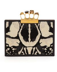 Alexander McQueen - Knuckle Sequined Leather Clutch - Lyst