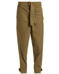 JW Anderson - Folded Low-rise Cotton Trousers - Lyst
