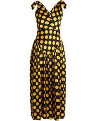 Duro Olowu - Robe de soirée en satin de soie à imprimé pois - Lyst