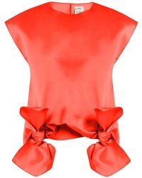 Maison Rabih Kayrouz - Tie Front Sleeveless Top - Lyst