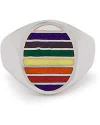 Jessica Biales - Sterling Silver And Enamel Ring - Lyst