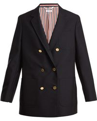 Thom Browne | Double-breasted Wool And Mohair-blend Blazer | Lyst