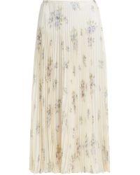 JOSEPH - Abbot Pleated Floral Print Silk Skirt - Lyst