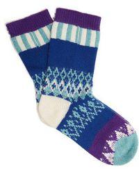Burberry - Patchwork Wool-blend Socks - Lyst