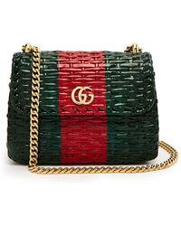 676090ca7724 Gucci - Gg Cestino Woven-wicker Mini Cross-body Bag - Lyst