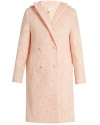 Huishan Zhang - Axelia Cloud-lace Double-breasted Coat - Lyst