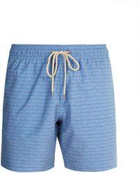 Faherty Brand - Beacon Geometric Print Swim Shorts - Lyst