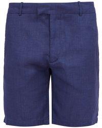 Frescobol Carioca - Tailored Linen And Cotton-blend Shorts - Lyst