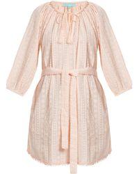 Melissa Odabash - Alicia Waist Tie Embroidered Cotton Dress - Lyst