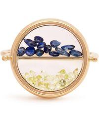 Aurelie Bidermann - Sapphire, Peridot & Yellow Gold Ring - Lyst