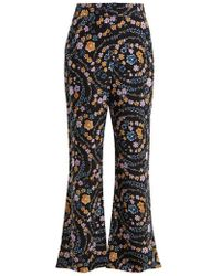 See By Chloé - Floral-print Crepe Trousers - Lyst