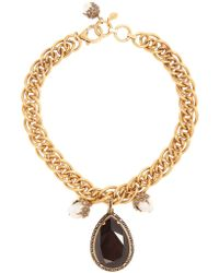 Alexander McQueen - Crystal-embellished And Pearl Necklace - Lyst