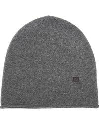 Acne Studios - Ribbed Knit Wool Beanie Hat - Lyst