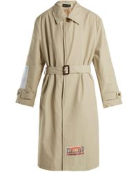 Martine Rose - Patch-appliqué Cotton-blend Trench Coat - Lyst