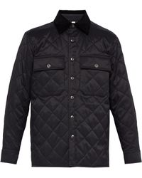 Burberry - Logo Patch Quilted Twill Jacket - Lyst