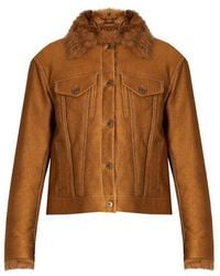 Sies Marjan - - Tigrado Shearling Lined Jacket - Womens - Tan - Lyst