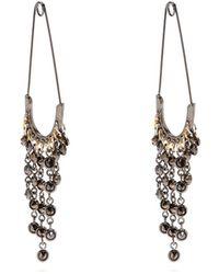 Sonia Rykiel - Safety-pin Drop Earrings - Lyst