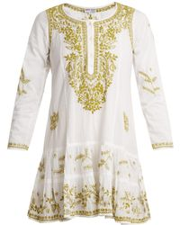 Juliet Dunn - Embroidered Cotton Dress - Lyst