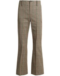 Balenciaga - Prince Of Wales-checked Cotton Trousers - Lyst
