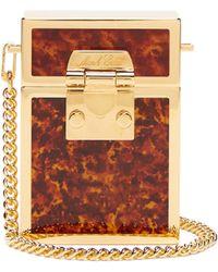 Mark Cross - Nicole Tortoiseshell Enamelled Gold Plated Bag - Lyst