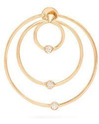 Delfina Delettrez - Diamond & Yellow-gold Hoop Single Earring - Lyst