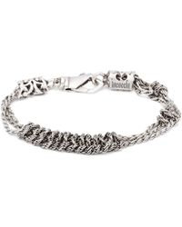 Emanuele Bicocchi - Knotted Chain Sterling Silver Bracelet - Lyst