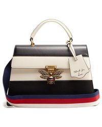 Gucci - Queen Margaret Leather Shoulder Bag - Lyst