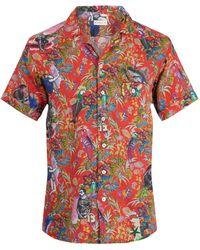 Etro | Tropical-print Short-sleeved Linen Shirt | Lyst