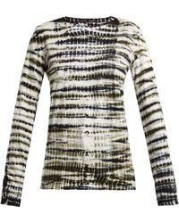 Proenza Schouler - Tie-dye Long-sleeved Cotton T-shirt - Lyst