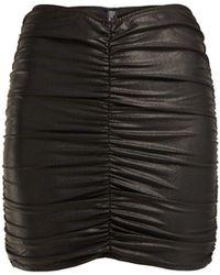 Lisa Marie Fernandez - Ruched Wet Look Mini Skirt - Lyst