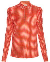 Preen By Thornton Bregazzi - Ari Crystal-embellished Gingham Shirt - Lyst