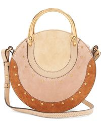 Chloé - Pixie Small Stud-embellished Suede Cross-body Bag - Lyst