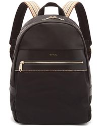 Paul Smith - Artist Webbing Leather-trimmed Nylon Backpack - Lyst